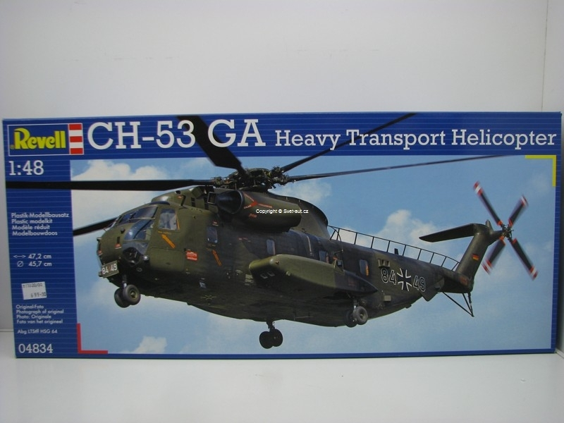 Sikorsky CH-53 GA Heavy Transport Helicopter 1:48 Kit Revell